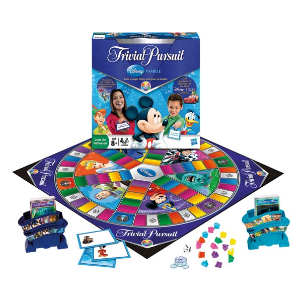 trivial pursuit disney famille hasbro king jouet jeux de r flexion hasbro jeux de soci t. Black Bedroom Furniture Sets. Home Design Ideas